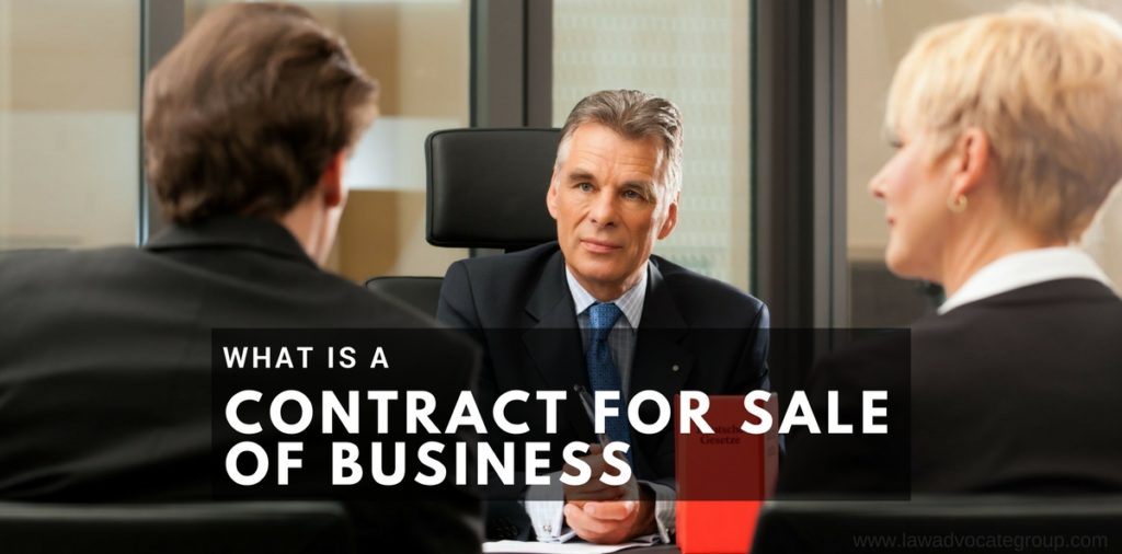 Contract for Sale of Business