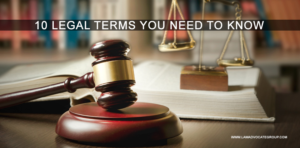 10 Legal Terms You Need To Know Image