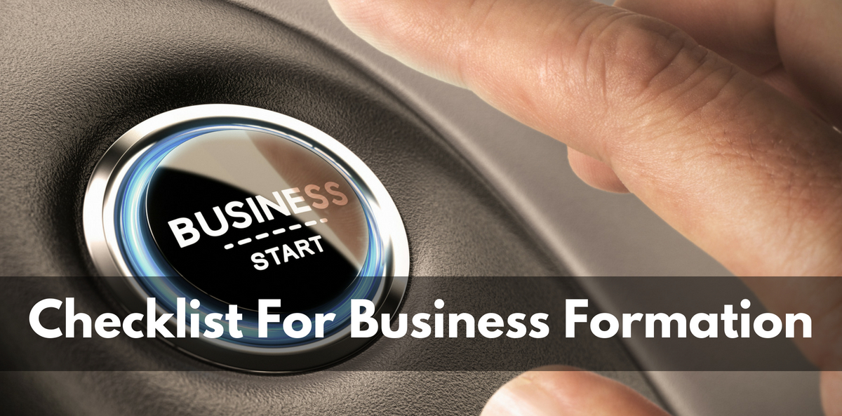 Checklist For Business Formation