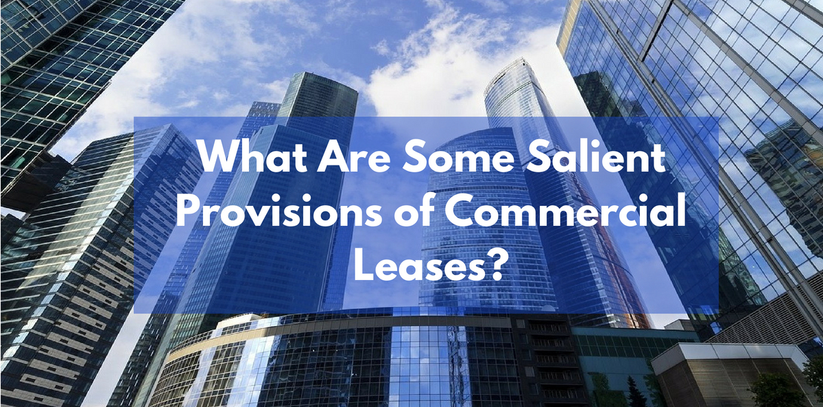 What Are Some Salient Provisions of Commercial Leases?