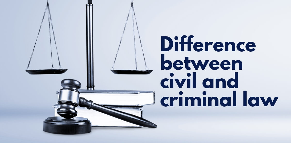 Difference between civil and criminal law (1)