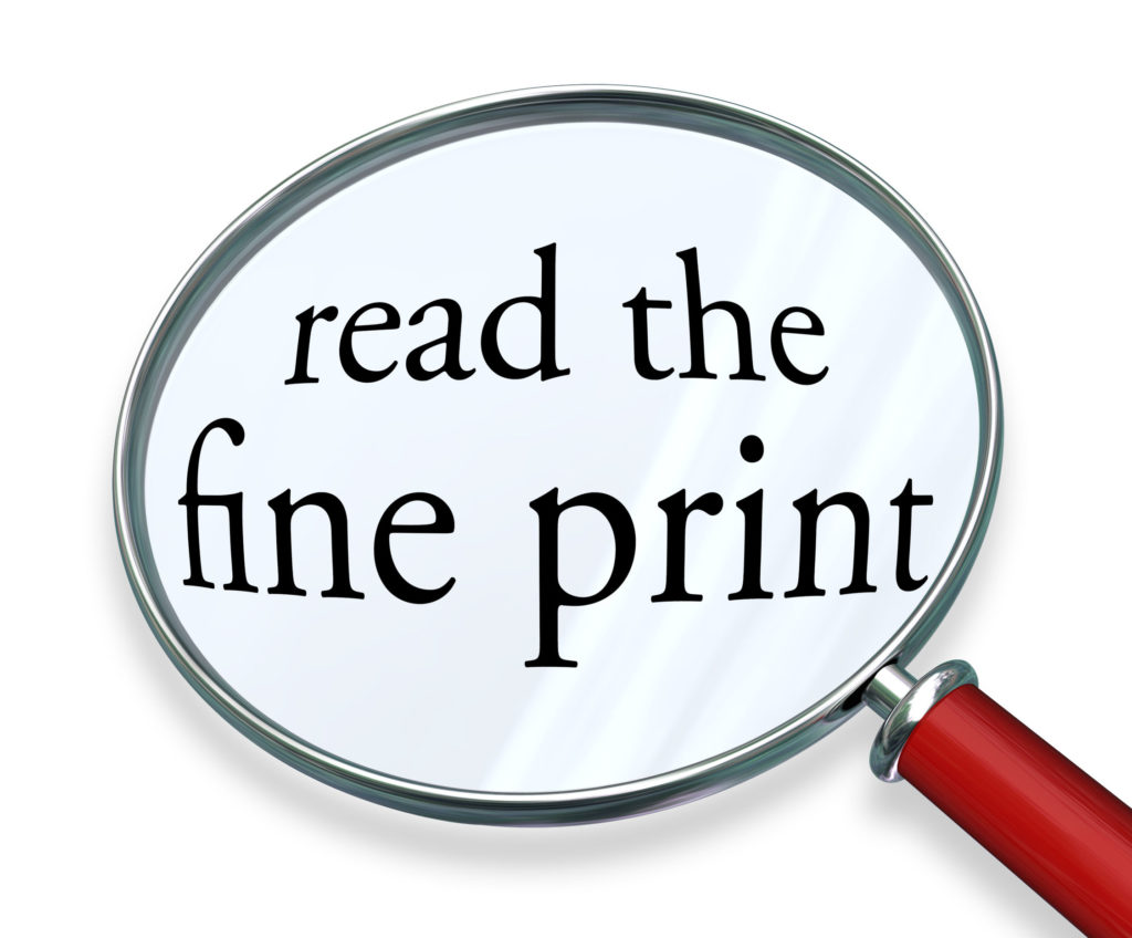 How Should You Read Fine Prints of a Contract?